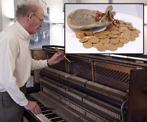 Piano Tuner to Share Six-Figure Reward for Finding 913 Gold Coins Hidden Under the Keys of a Donated Upright