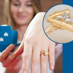 Domino's in the UK Just Gave Away a 22K Pizza-Slice Engagement Ring Topped with Diamond Pepperoni